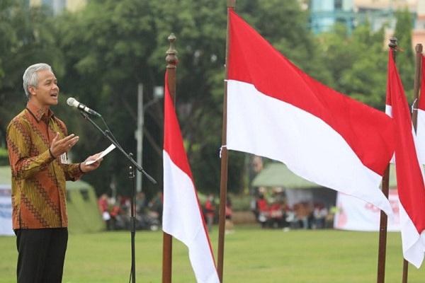 Ganjar Pranowo Pimpin Kirab Kebangsaan Merah Putih