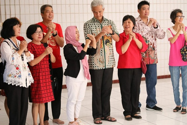 Jelang Sincia, Ganjar Pranowo Datangi Pecinan Semarang