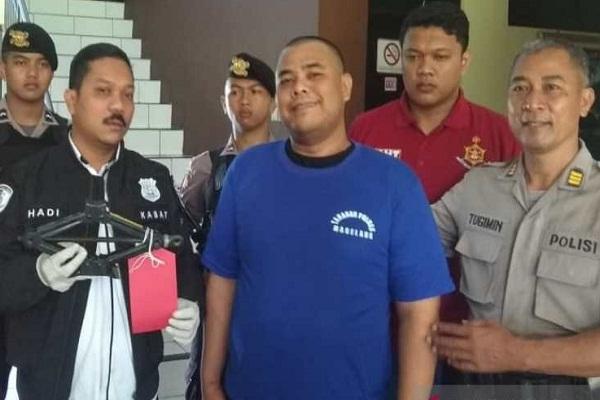 Pencurian Ban Magelang Ganjal Mobil Pakai Batako