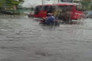 Banjir di Bubaan, Semarang, Kamis (20/2/2020). (Facebook.com-Darmadi)