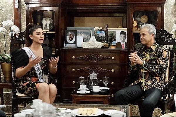 Songsong Puteri Indonesia 2020, Jihane Almira Pamit Gubernur Jateng