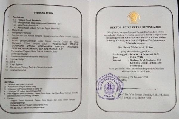 Puan Maharani Dapat Gelar Doktor HC dari Undip, Netizen Penasaran…