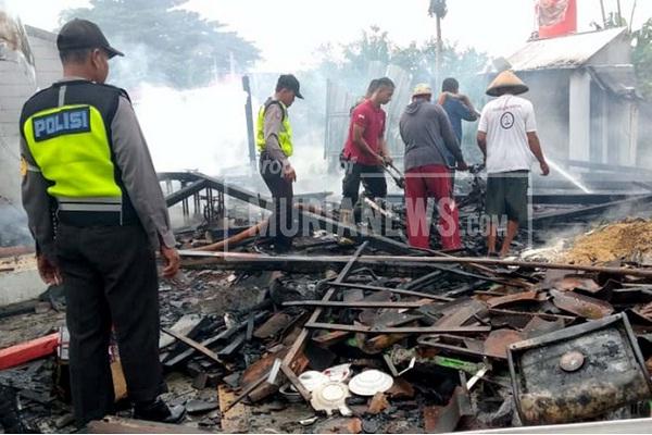 3 Rumah di Karangpaing Grobogan Ludes Terbakar