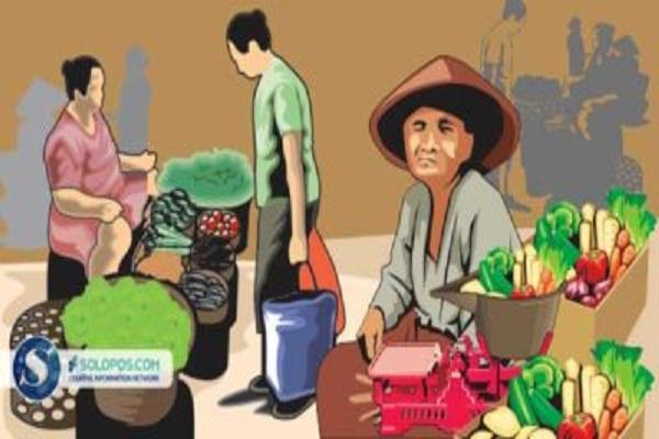 13 Pasar Tradisional di Jateng Terapkan Physical Distancing, Jokowi Beri Pujian