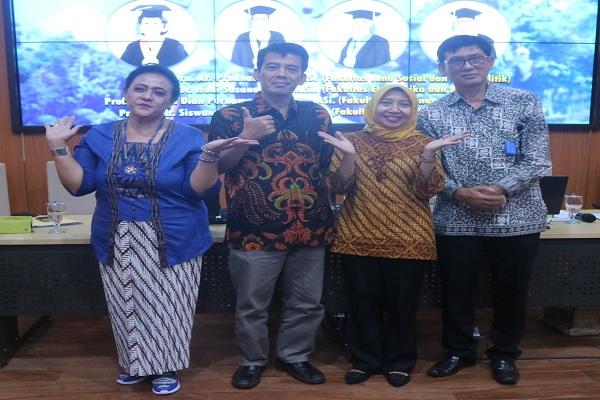 Awal 2020, Undip Semarang Kukuhkan 4 Guru Besar