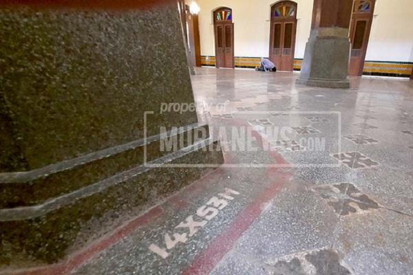 Karpet Digulung Karena Virus Corona, Inskripsi Masjid Menara Kudus Tersingkap