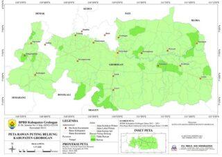Peta angin putting beliung di Grobogan, Jateng. (Semarangpos.con-Istimewa)