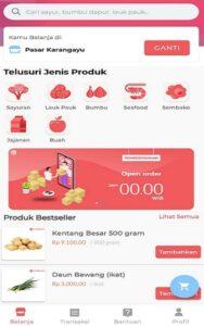 Bahan-bahan makanan yang ditawarkan di aplikasi Tumbasin.id. (Semarangpos.com-Tumbasin.id)