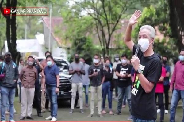 Ganjar Pranowo Kunjungi Asrama Mahasiswa UKSW Salatiga, Ini Pesannya…