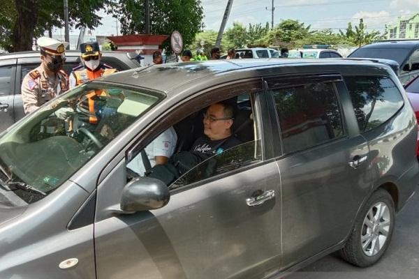 Satlantas Kudus Giat Putar Balikkan Kendaraan Luar Daerah