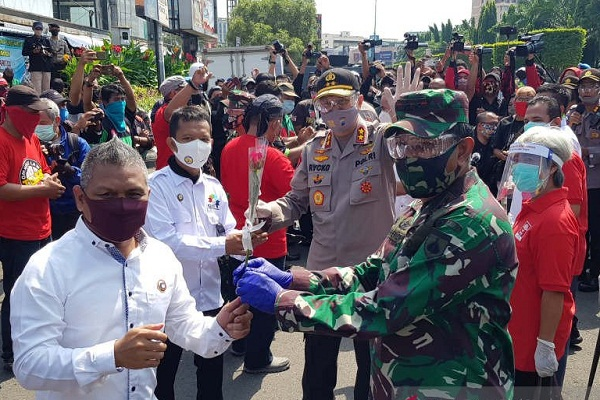 Ini Aksi TNI & Polri di Jateng pada Hari Buruh