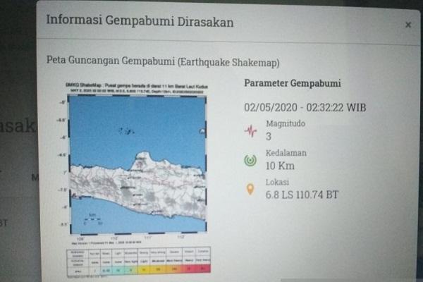 Awal 2021, 22 Kejadian Gempa Landa Jateng