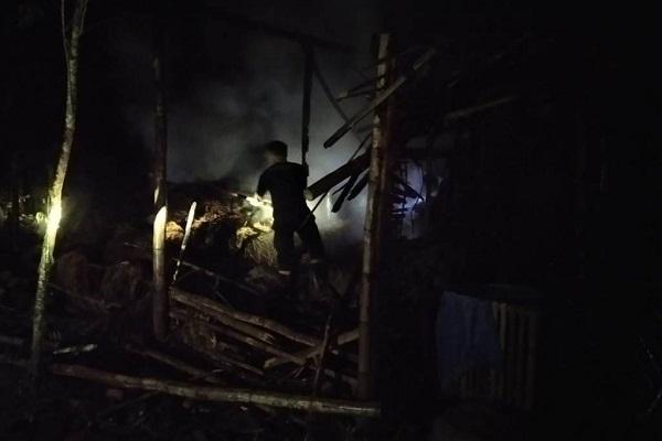 Perapian Lupa Dimatikan, Kandang Sapi di Grobogan Terbakar