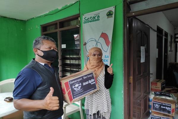 Komunitas Moge Honda di Jateng Honda Beri Sembako ke Kaum Difabel & Anak Jalanan