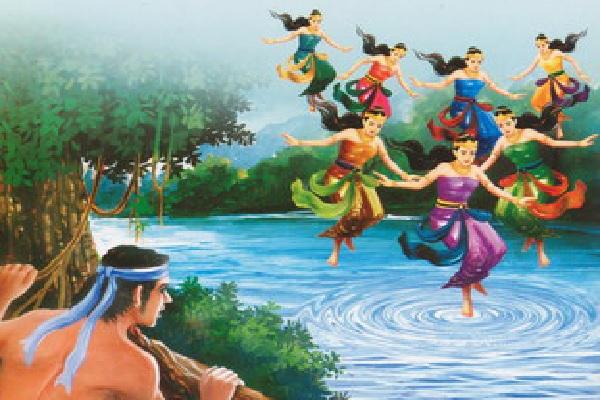 Nawang Wulan Bali Kayangan Sawise Nemokake Klambi Widadari