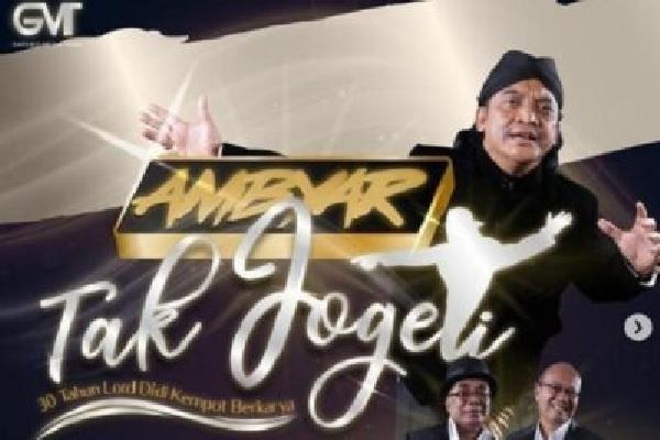 "Konser Akbar ""Ambyar Tak Jogeti 30 Tahun Lord Didi Kempot Berkarya"" 14 November, Akankah Digelar?"