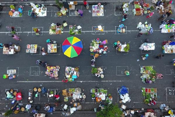 Pasar Pagi Salatiga Dibuka Lagi, Pedagang Wajib Pakai Face Shield