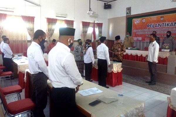 Pelantikan 840 Anggota PPS di Grobogan Dilaksanakan di 19 Kecamatan