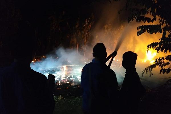 Bakar Sampah, Rumah di Gabus Grobogan Ludes Terbakar