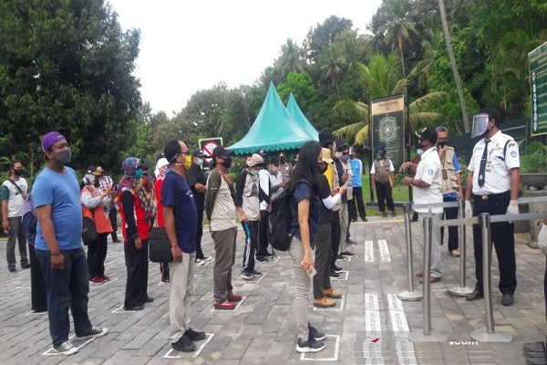 Layanan Wisata Zona I Borobudur di Era New Normal Disimulasikan