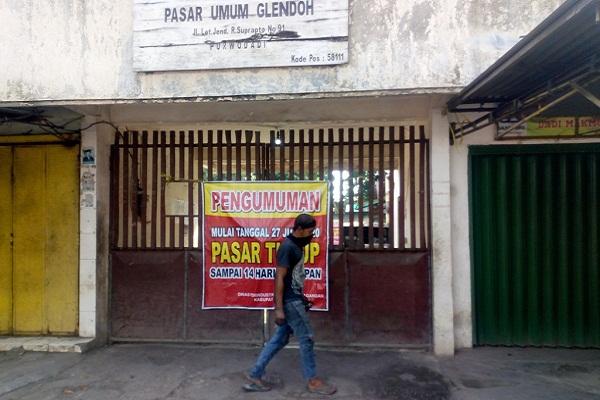 Pedagang Positif Covid-19, Pasar Glendoh Purwodadi Grobogan Ditutup