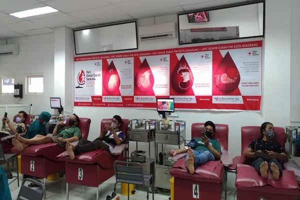 Hari Donor Darah Sedunia, PMI Kota Semarang Kumpulkan 550 Kantong Darah, Stok Masih Minim