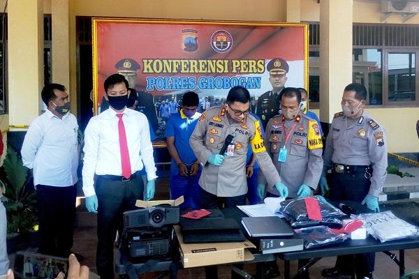 2 Pencuri Laptop di SMPN Grobogan Dibekuk Polisi