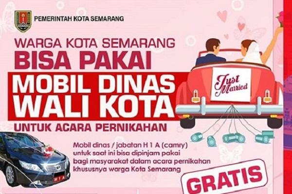 Warga Semarang Boleh Pinjam Mobil Dinas Wali Kota untuk Pernikahan, Ini Syaratnya…