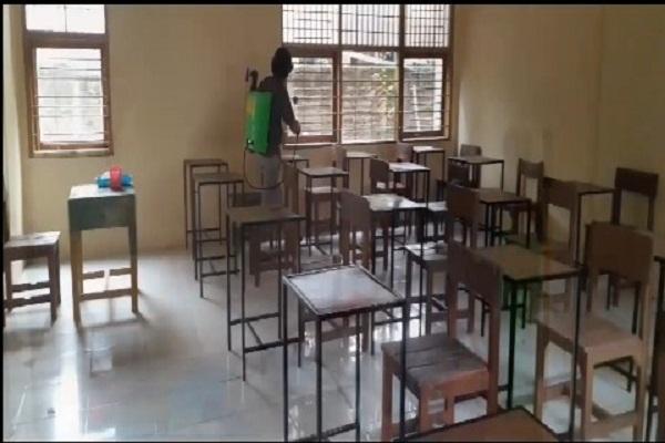 Sekolah di Tegal Simulasikan KBM Tatap Muka New Normal