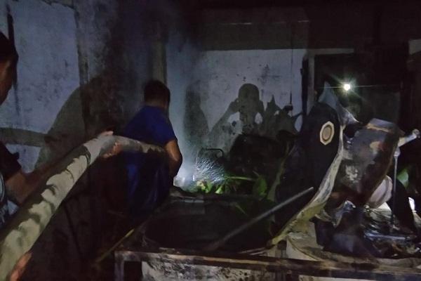 Percikan Api Lampu Bikin Ludes Pertamini di Grobogan