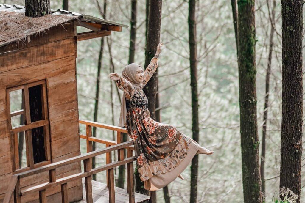 Spot Foto Instagramable Terkumpul di Hutan Pinus Lereng Merbabu…