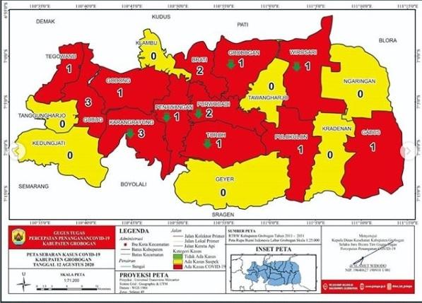 Pasien Covid-19 Sembuh di Grobogan Sudah 245
