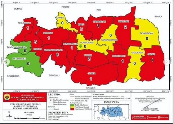 14 Hari Nol Kasus Covid-19, 2 Kecamatan di Grobogan Zona Hijau