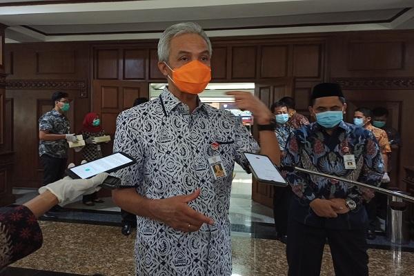 Gubernur Ganjar Bantah Pemerintah Kota Tegal Sembunyikan Data Covid-19