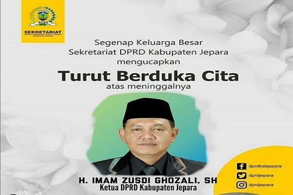 Terungkap, Ketua DPRD Jepara Meninggal Akibat Covid-19