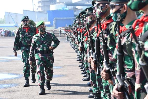 450 Prajurit Yonif Raider 400/BR Jaga Perbatasan RI di Papua