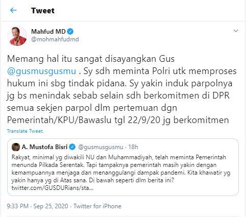 Polisi Dituding Tak Berani Bubarkan Konser Dangdut di Tegal, Begini Komentar Mahfud M.D.