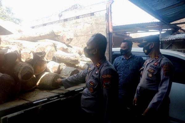 Polisi & Petugas Hutan Gundih Ungkap Pencurian Kayu Sonokeling di Hutan Gundih Grobogan
