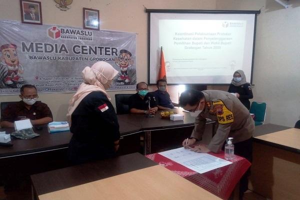KPU Grobogan Larang Kandidat Hadiri Penetapan Paslon di Pilkada 2020