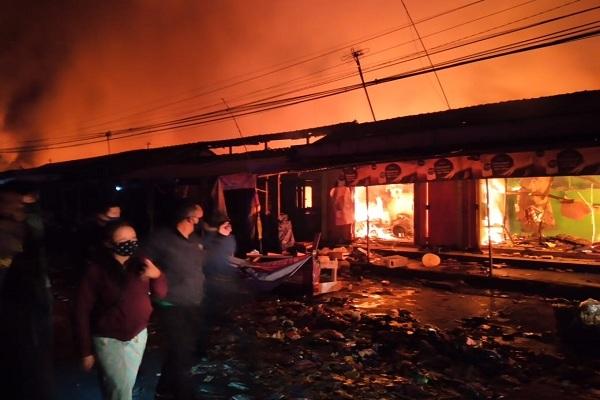 Kebakaran Hebat Landa Pasar Cepogo Boyolali