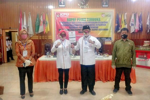 Undian Paslon Pilkada Grobogan 2020 Tempatkan Sri-Bambang di Posisi Kanan