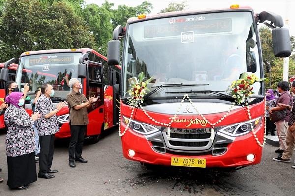 Bus Trans Jateng Purwomanggung Resmi Meluncur, Gratis 9 Hari