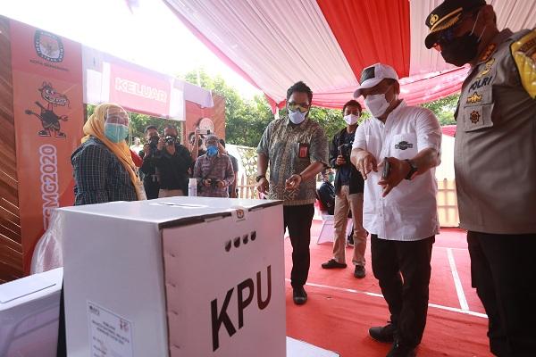 KPU Kota Semarang Gelar Simulasi Pencoblosan Pilkada 2020 Pada Masa Pandemi