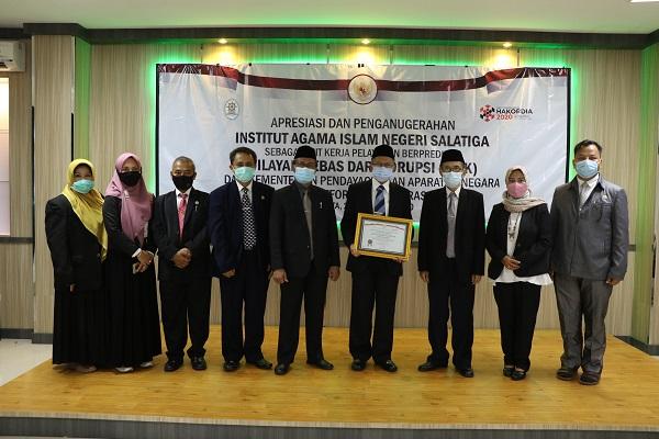 IAIN Salatiga Raih Predikat WBK dari Kementerian PAN-RB