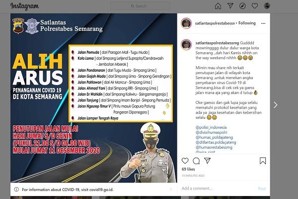 Pemkot Semarang Batal Tutup Jalan untuk Tekan Persebaran Covid-19