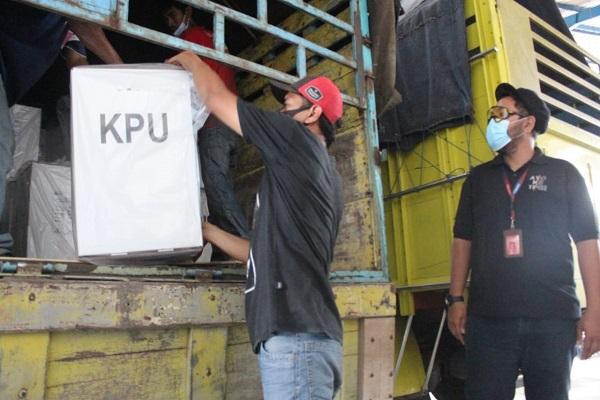 KPU Kota Semarang Mulai Distribusikan 1,2 Juta Surat Suara untuk Pilkada 2020
