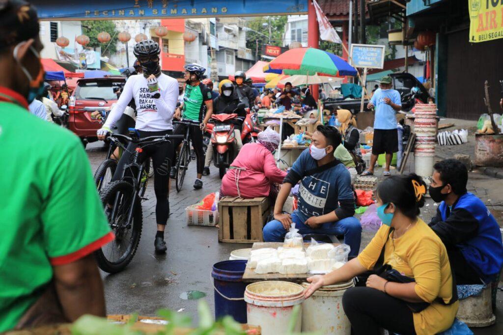 Hari Pertama PPKM, Masih Banyak Warga Semarang Keluar Rumah Tak Pakai Masker
