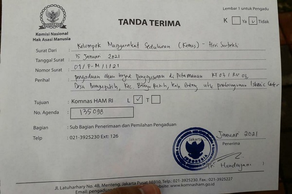 Bupati Batang Dilaporkan ke Komnas HAM, Ini Sebabnya…