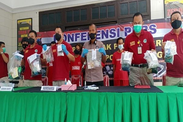 Polisi di Jateng Sita 14,92 Kg Narkoba Jenis Sabu-Sabu