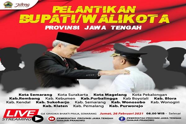 Hanya Pelantikan Kepala Daerah Semarang Raya yang Digelar Langsung, Lainnya Online